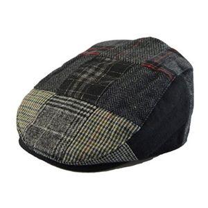 Other - Men's Black Plaid Pattern Newsboy Hat